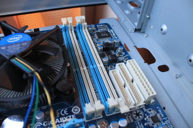 Empty RAM slots.