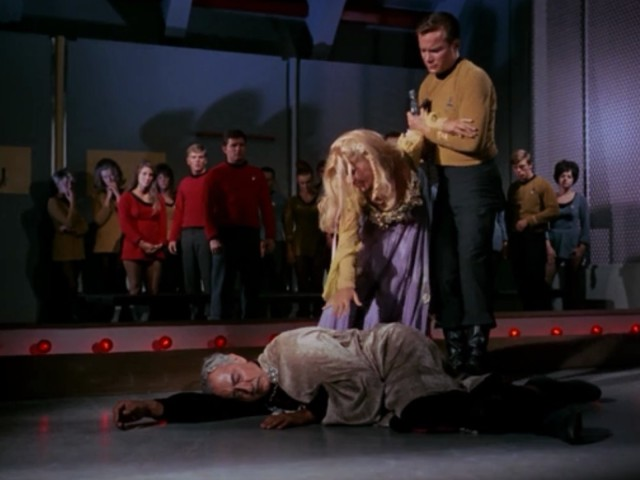All right folks, the show's over. Also Kirk, you should probably keep that phaser away from her.