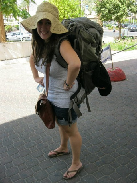 This was three years ago. This time around my bag is even bigger (and I lost that cute hat, unfortunately).