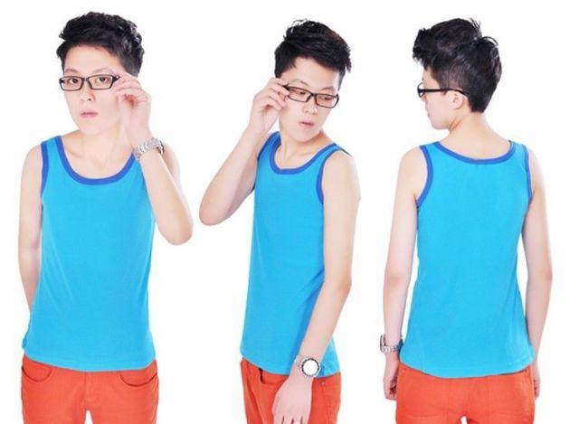 Lesbian Tomboy T-Shirt Undershirt Slim Fit Chest Binder Vest Tops Tank M-XL