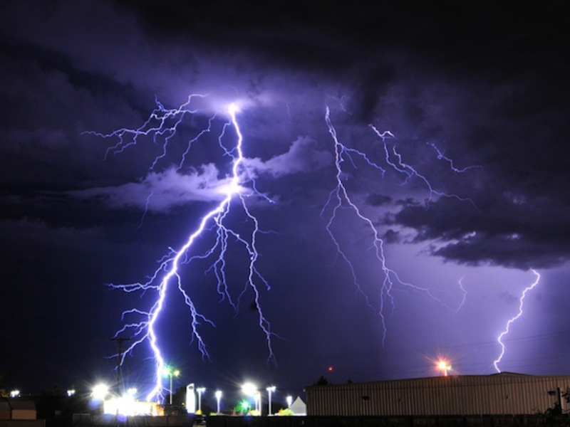 Lightning over Roswell, New Mexico Via AP Photo/Roswell Daily Record, Mark Wilson