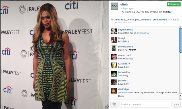 Laverne Cox via isntagram