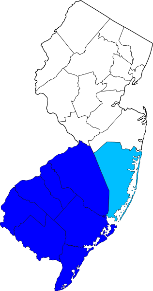 The light blue is Ocean County - they're the county that didn't pass the vote.