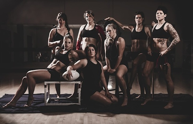 The Canadian women's rugby team, you're welcome.