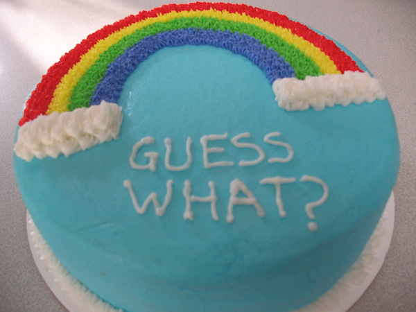 MAYBE YOU DID IT VIA CAKE.