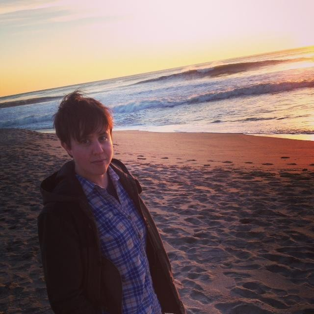 My cute girlfriend on a day trip we took to Half Moon Bay
