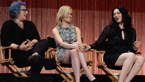 Jenji Kohan, Taylor Schilling and Laura Prepon via pop 2 it