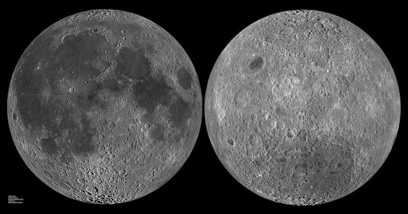 The two sides of the Moon. Via LRO / Universe Today.
