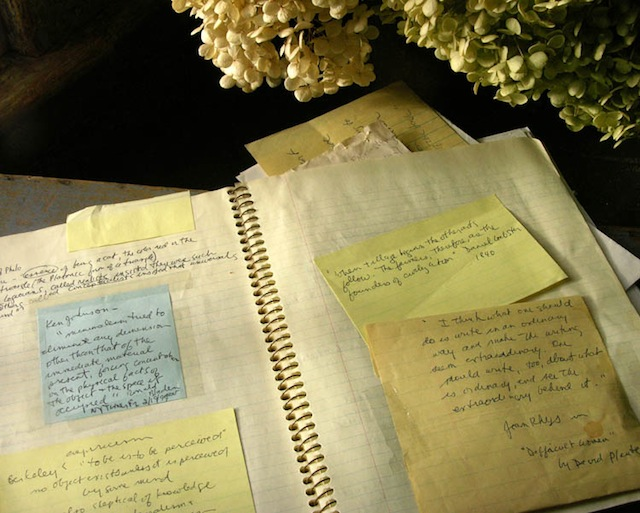 For best results, keep a tasteful bouquet of flowers near your commonplace book at all times. (Via Studio and Garden)