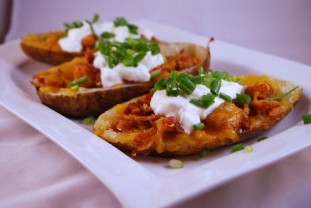This particular photograph I felt makes potato skins look especially sophisticated