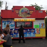 "This is a typical ""raspa stand"" in the Valley."