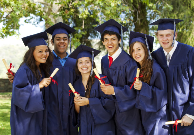 No dumb gendered graduation robes at Shutterstock High! via Shutterstock
