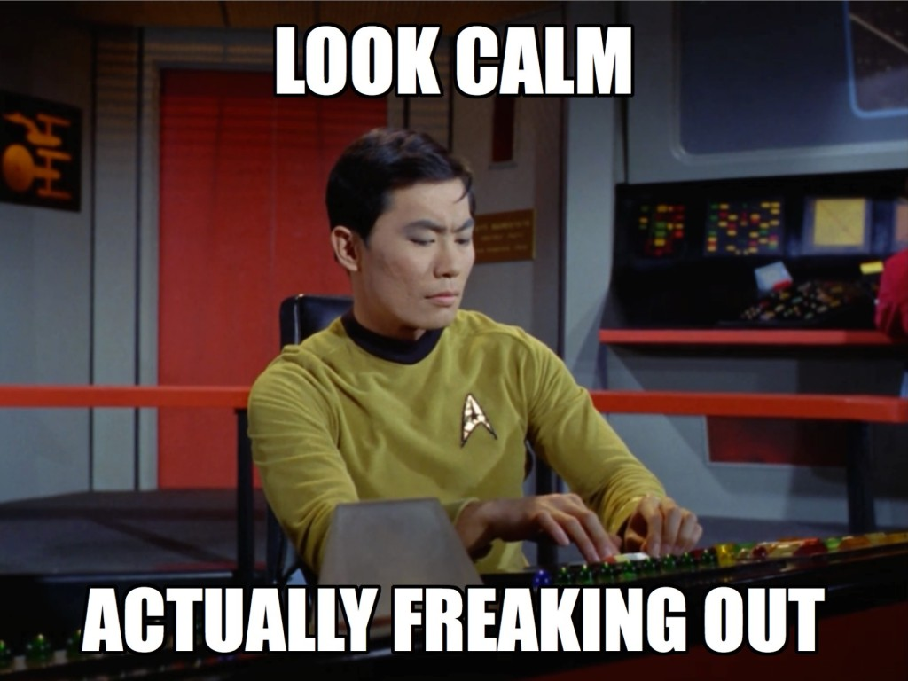 Four for you, Sulu. You go, Sulu!
