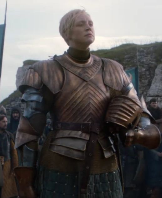 Brienne of Tarth modeling armor that is meant to KEEP YOU ALIVE. You can see more Reasonable Armor here.