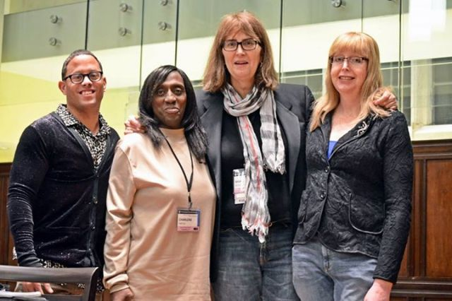 Arcila, second from left, at the 2014 Pennsylvania Youth Action Conference.