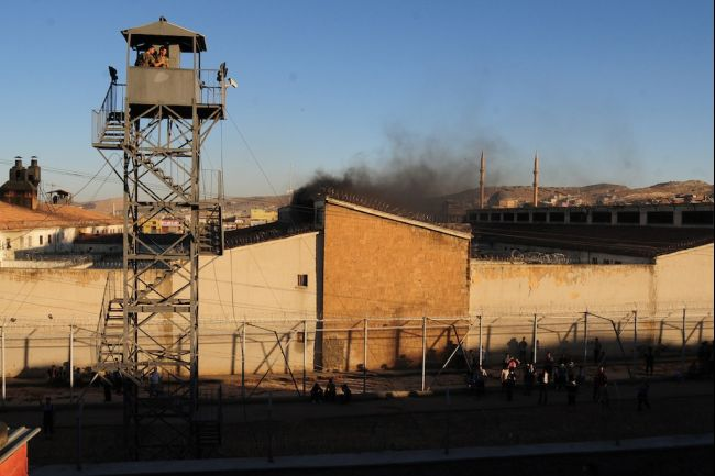 Turkish prison, in Sanliurfa city. In June of 2012, this prison saw two fires and a riot in one month's time.  via Global Post