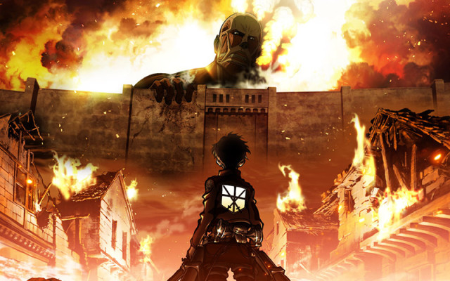 Eren Jaeger prepares to face off against the Colossal Titan