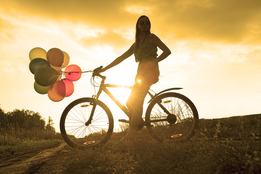Can't you feel her thrilled trepidation to be riding off into the sunset with those balloons? That is how I feel about most things these days. via Shutterstock