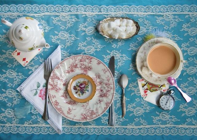 Food from Alice in Wonderland via Brainpickings.