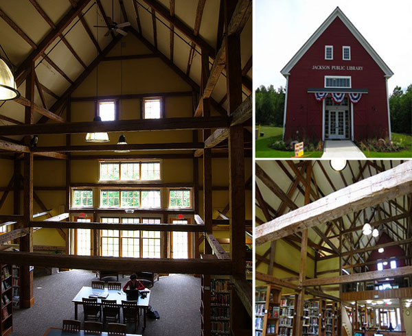 Jackson Public Library in New Hampshire via flavorwire