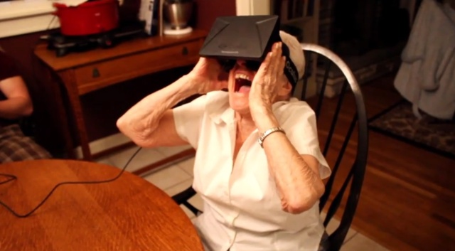 "YouTube ""My 90 year old grandmother tries the Oculus Rift"" by Paul Rivot."