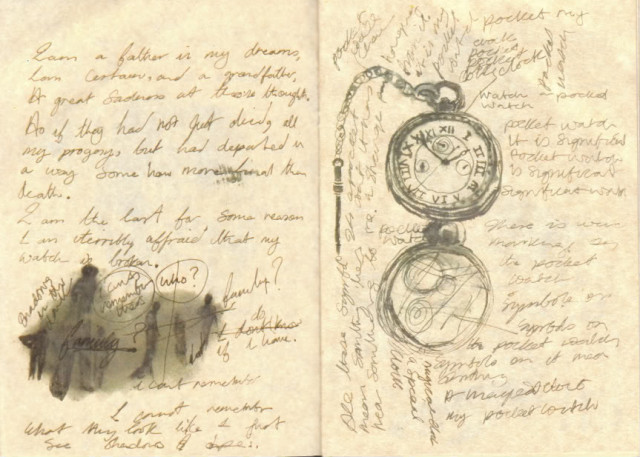 This person obviously found the perfect time for creating pocketwatch doodles. (Via tenored)