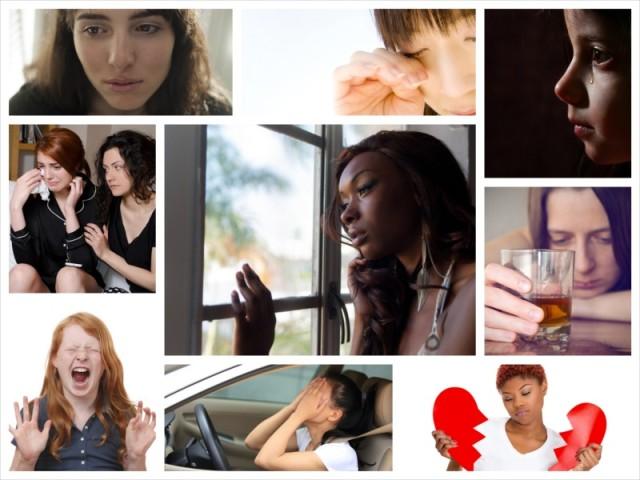 sad women