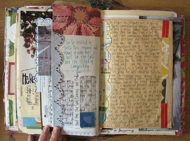 "This particular hip scrapbook is technically a ""smashbook."" (Via Debra Cooper)"