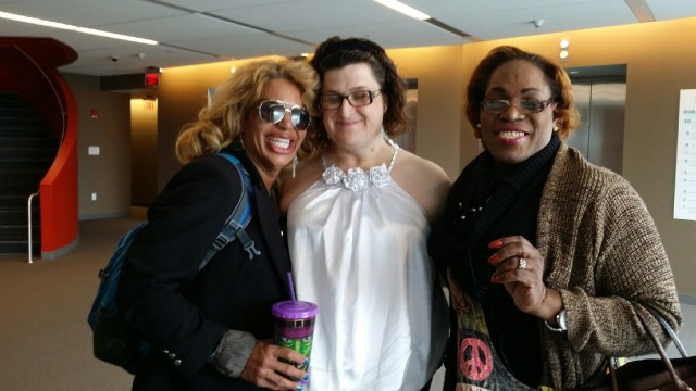 Kim Watson, far right, at the Transfeminine Show and Tell event. via Body Image 4 Justice