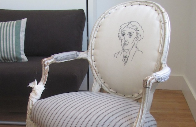 Take a seat in this fancy Virginia Woolf chair while you savor her beautiful words. (Via Nightwood)