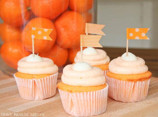 16. Creamsicle Cupcakes