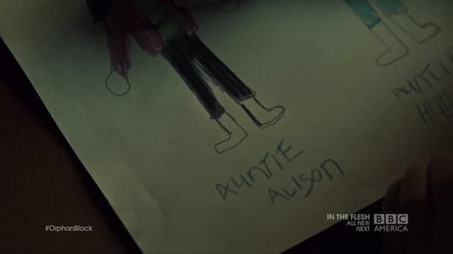 I would love to see Kira's drawing of Alison falling off that stage.