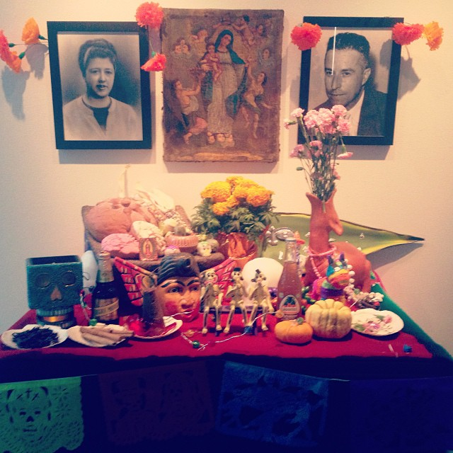 One of the many altars I saw at a Dia De Los Muertos celebration in Dallas.