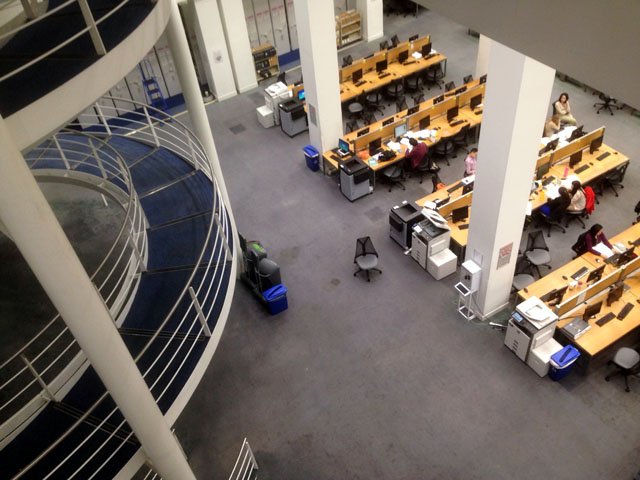 Taken in my school library at 3 this morning. PARTY ANIMALS, THE LOT OF US.