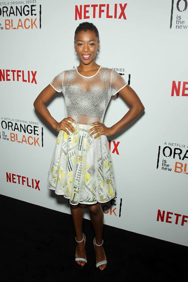 Samira Wiley at the OITNB premiere. Via OITNB Facebook.