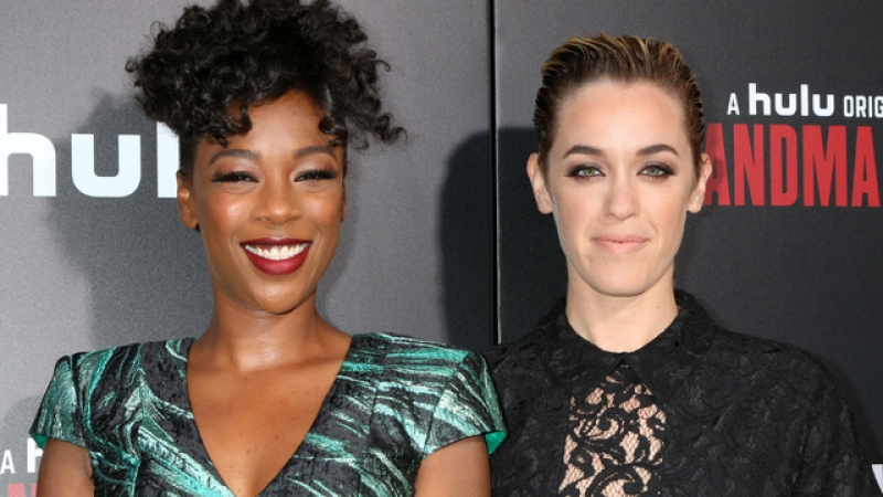 "LOS ANGELES - APR 25: Samira Wiley, Lauren Morelli at the Premiere Of Hulu's ""The Handmaid's Tale"" at Cinerama Dome ArcLight on April 25, 2017 in Los Angeles, CA. She came out as a late in life lesbian."