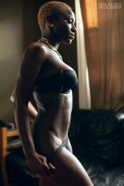 via dark skinned black beauty