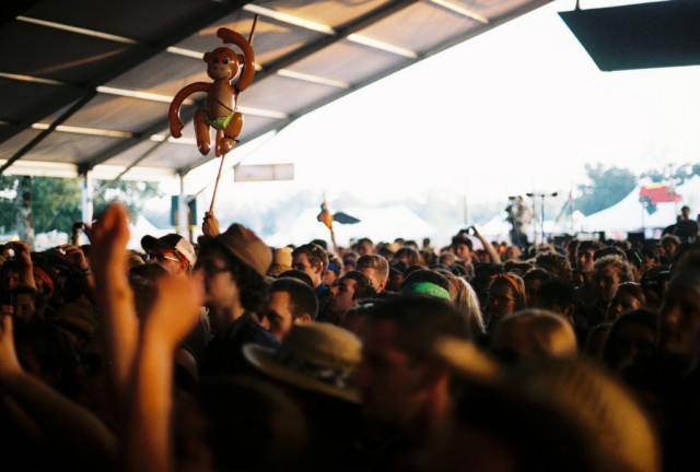 We're not in this picture, but the monkey really captures the spirit of how it'll feel when we see you.