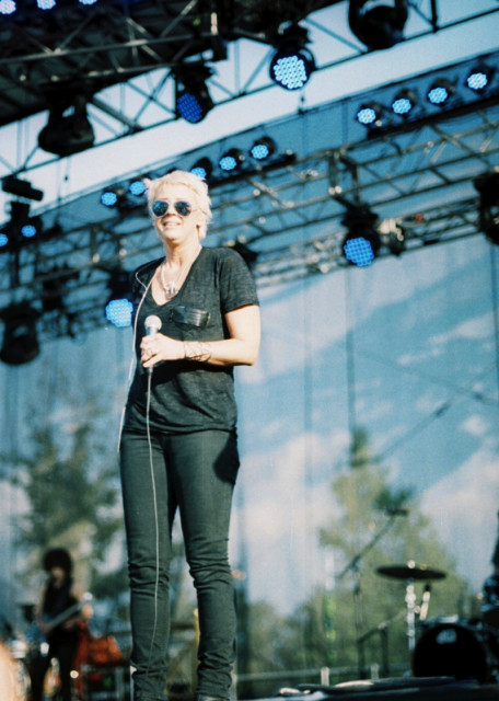 We passed Cat Power in the media compound the next day and I almost fell in a puddle.