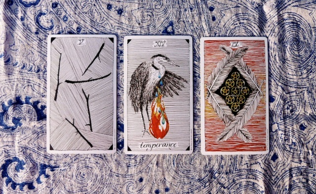 Cards are from the Wild Unknown Tarot by Kim Krans