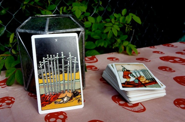 Life's a bitch and then you die - the Ten of Swords from the Rider-Waite-Smith Tarot