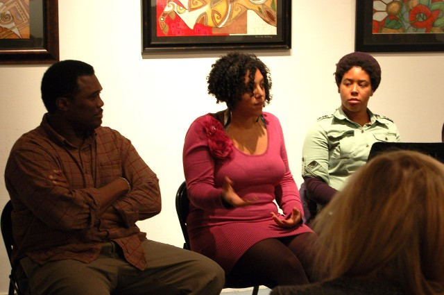 Playwright Nia Witherspoon during a Q&A session