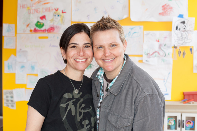 Amy Sandler and Niki Quasney sued Indiana for recognition of their marriage, performed in Massachusetts last year. They were granted immediate relief so Quasney, who is terminally ill, could receive a proper death certificate recognizing her family. The appeal for their case brought about today's ruling.  via Lambda Legal