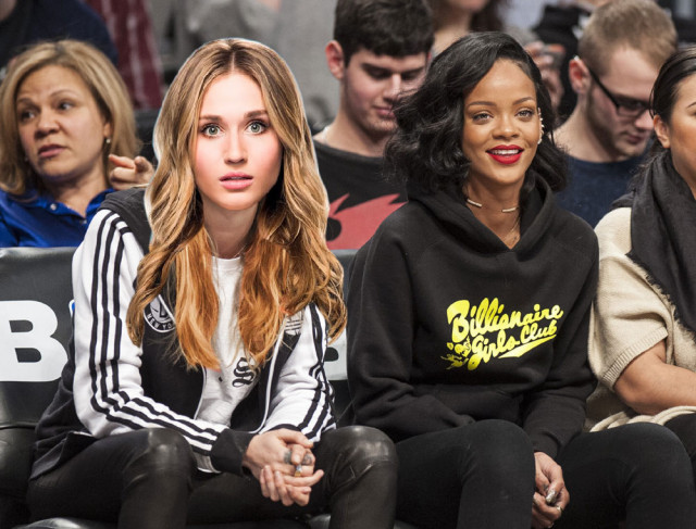 Rihanna parties with mystery woman at Knicks Game