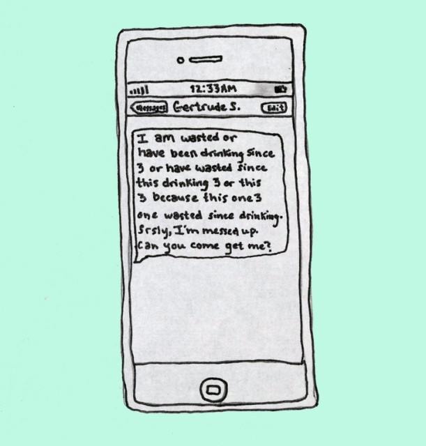 via drunk texts from famous authors