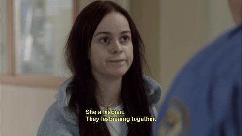 lesbianing