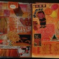 It's hard to believe this extremely orange art journal page didn't make the list! (Via iHanna)