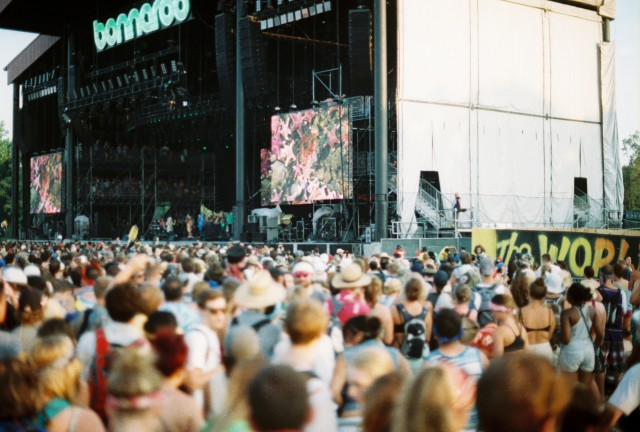 Even more people, and a little Bjork jumbotron goodness.