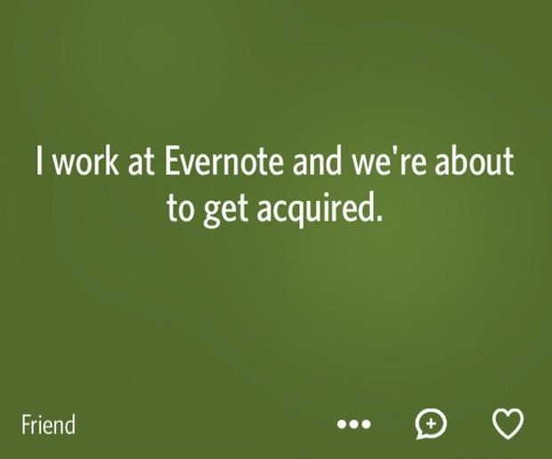 This rumor turned out to be false, but the Evernote CEO actually had to come out clarify things.