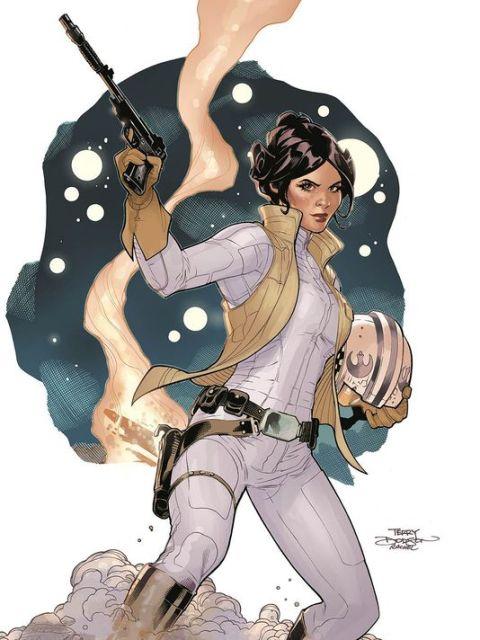 Princess Leia art by Terry Dodson